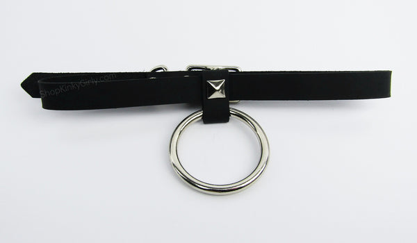 Pyramid o ring collar - KinkyGirly - 2