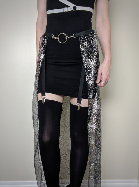 Black Widow Limited Edition skirt - optional clips or garter