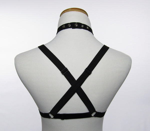 Jewel rhinestone chest harness - KinkyGirly - 4