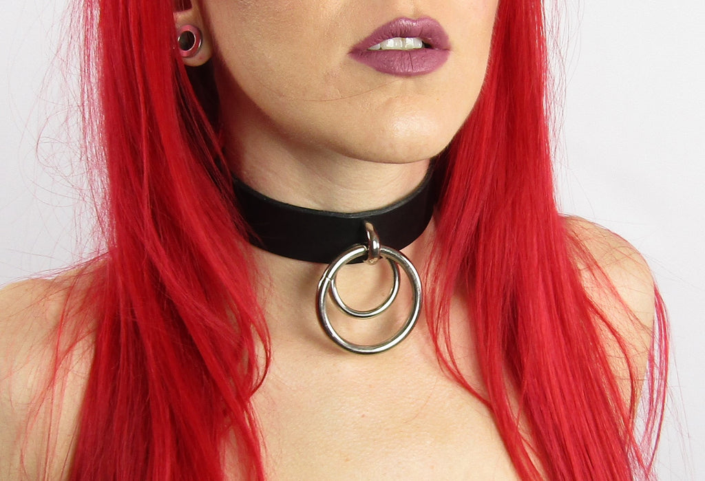Loria leather collar - KinkyGirly - 2