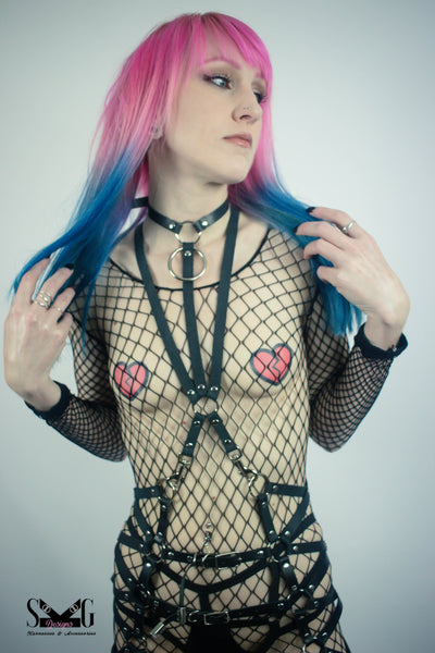 Mara vegan or leather full body harness