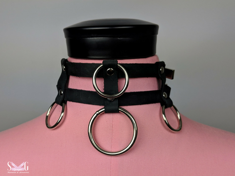 leather bdsm collar