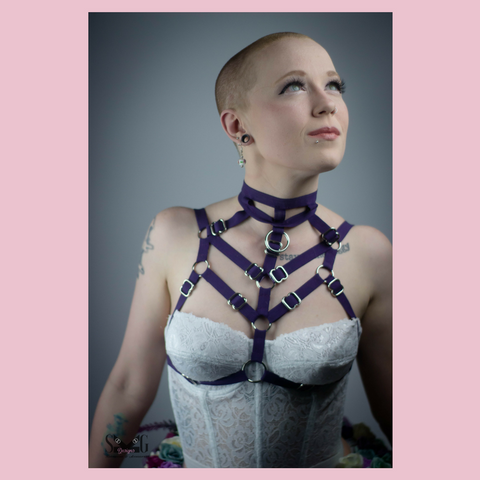 Dita adjustable choker harness