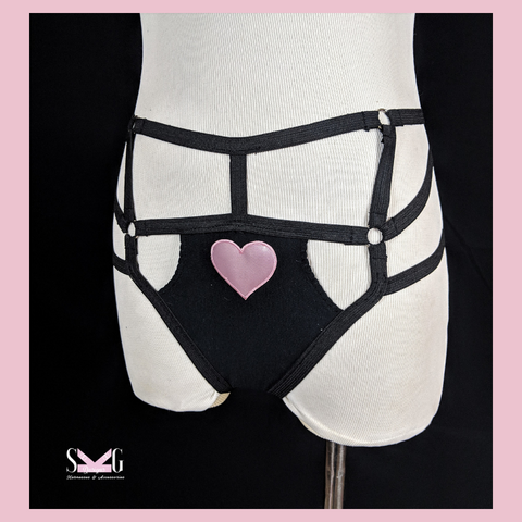 Ambrosia heart harness panties - limited edition