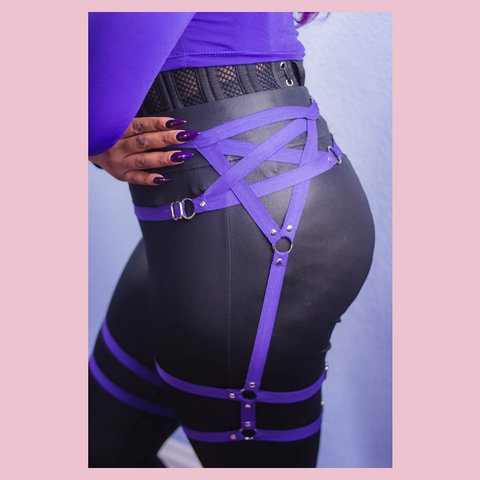 Pentagram waist and thigh harness