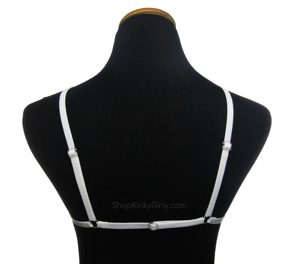 Velvet pentagram harness - adjustable - KinkyGirly - 4