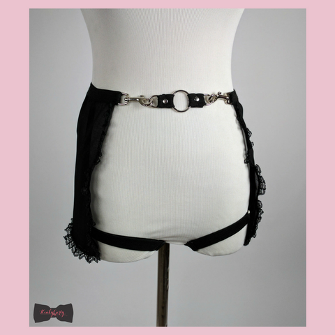 Jules waist belt skirt with removable thigh garters