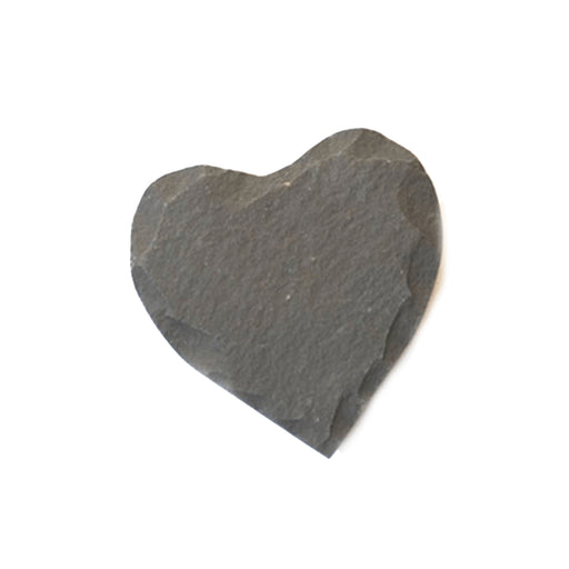 Black Heart Slate Candle Tray