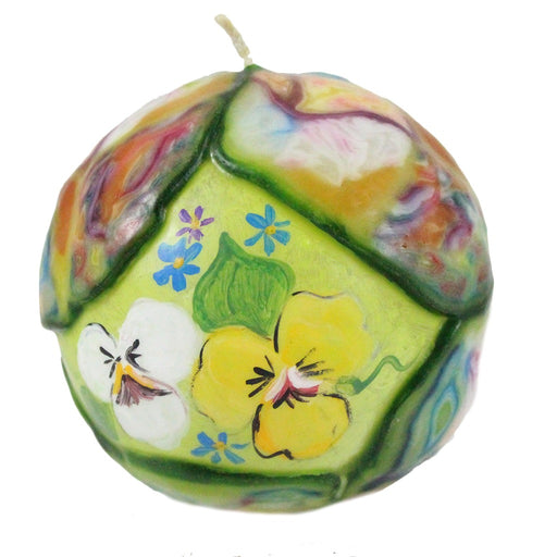 Hand Painted Ball Candle With Veneer - Candlestock.com