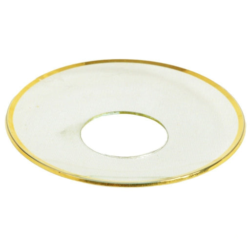 Bobeche Clear Glass With Gold Rim - Candlestock.com