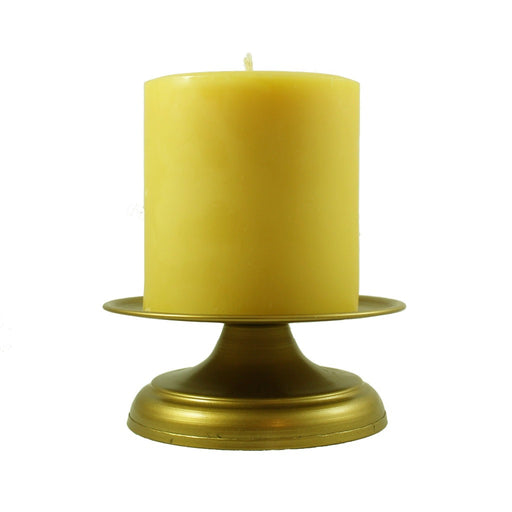 Antique Gold Pillar Candle Holder