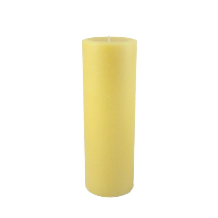 Beeswax Round Pillar Candle 3X9 inches - Locally Handmade With 100% All Natural Beeswax - Candlestock.com