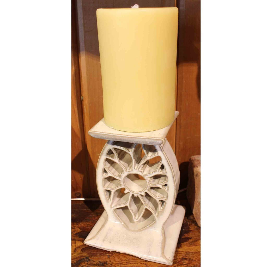 Glazed Porcelain Pottery Pillar Candle Holder - Candlestock.com