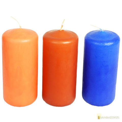"Candlestock Hand Dipped 2"" diameter Pillar Candle In Multiple Colors"