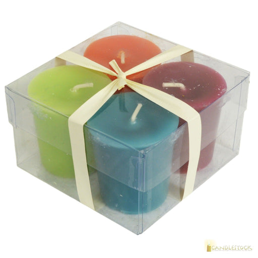 Colorful Votive Candle - 4 Pack - Candlestock.com