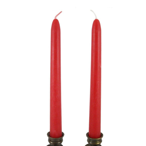 Beeswax Rounded Top Taper Candle Pair