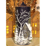 German Christmas Mill Pillar Candle - Candlestock.com