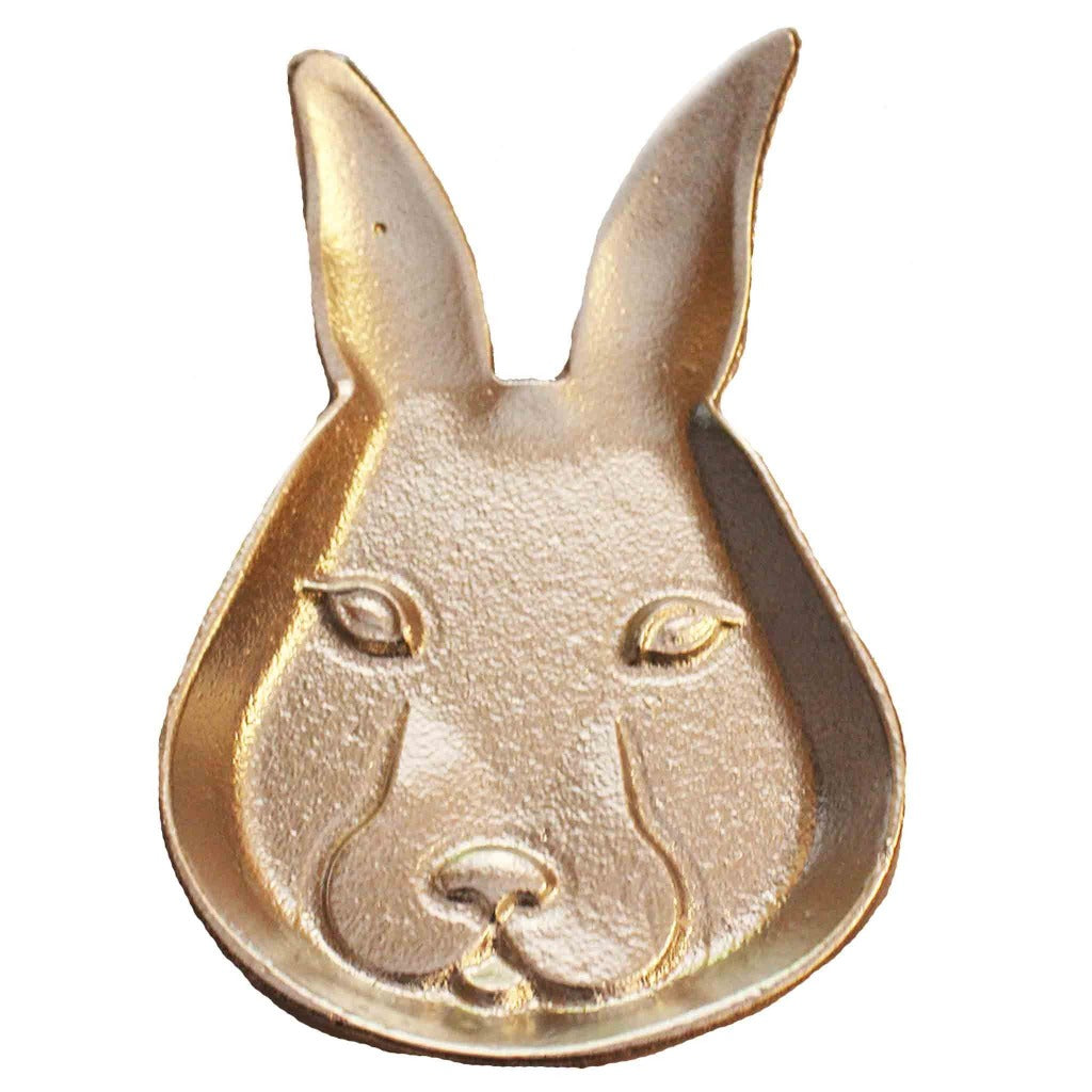 Cast Iron Bunny Head Candle Tray - Candlestock.com