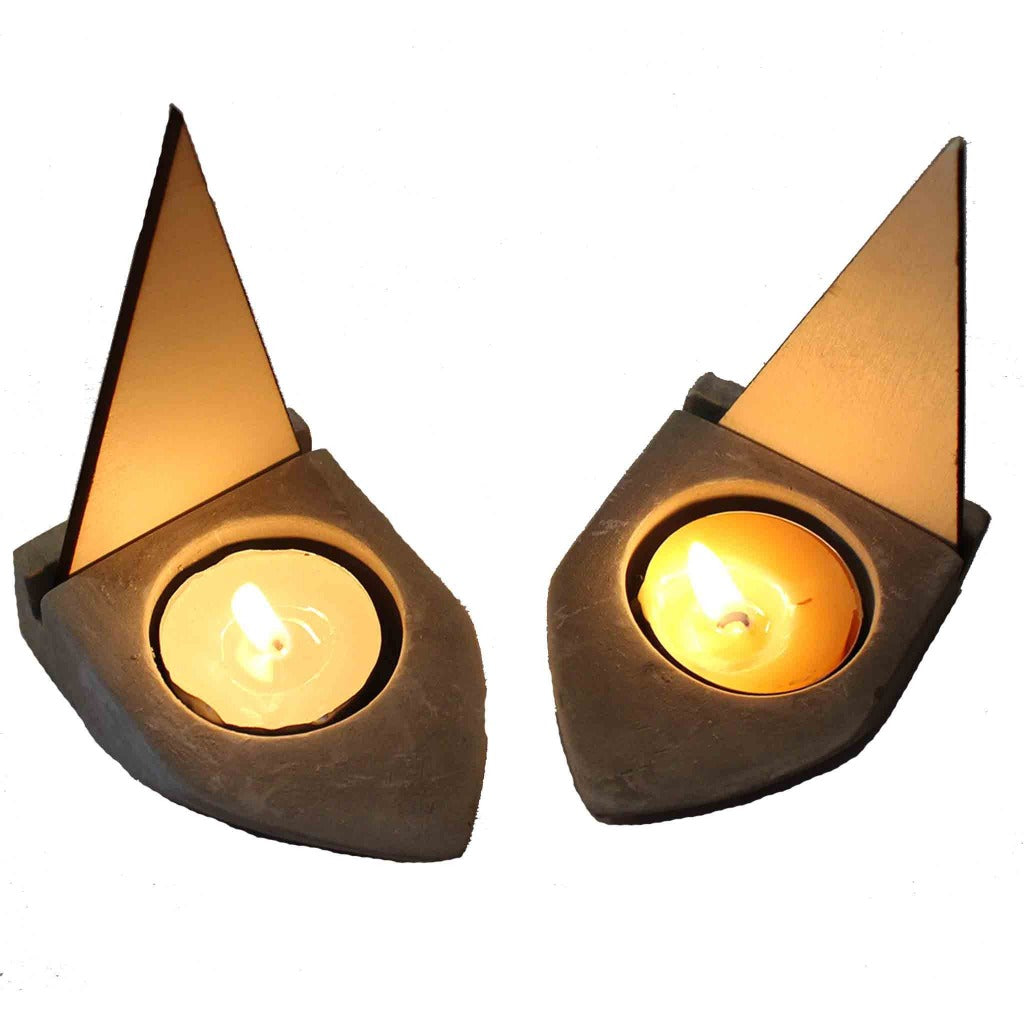 Cement Boat Tea Light Candle Holder - Candlestock.com