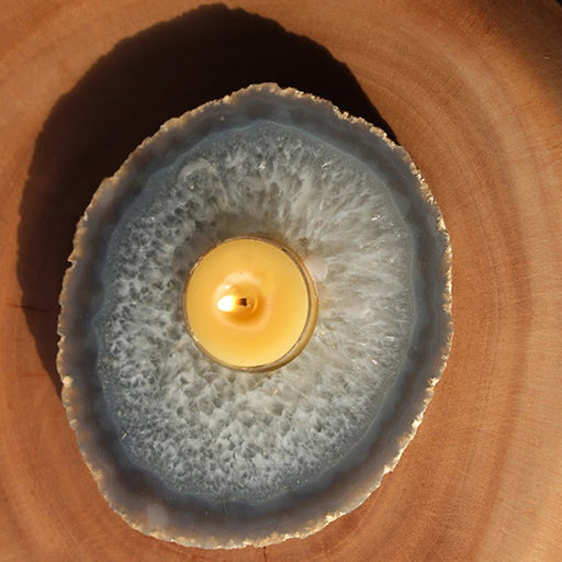 Crystal Candle Holder - Agate - Candlestock.com