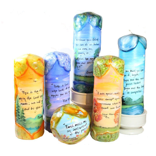 "Quote Pillar Candle - ""When I had no wings to fly, you flew to me"" Grateful Dead - Candlestock.com"