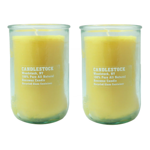 All natural beeswax jar candle gift set. - Candlestock.com