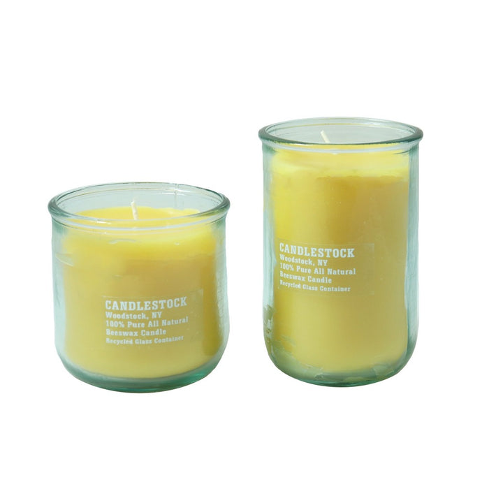 Beeswax jar candle gift set. Recycled glass jar candle. - Candlestock.com