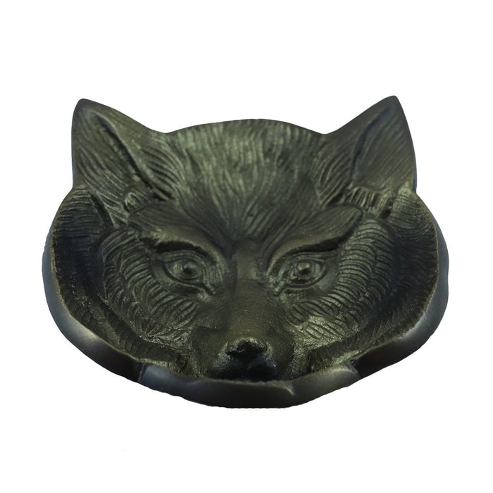 Animal jewelry dish. This fox face metal dish is perfect for storing your rings. - Candlestock.com