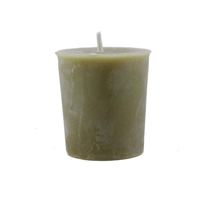 Burn Candlestock's bayberry and beeswax blended votive candle that is handmade in Woodstock, NY. - Candlestock.com