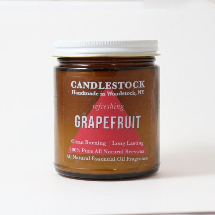 All natural essential oil scented grapefruit candle. Beeswax scented candles. - Candlestock.com