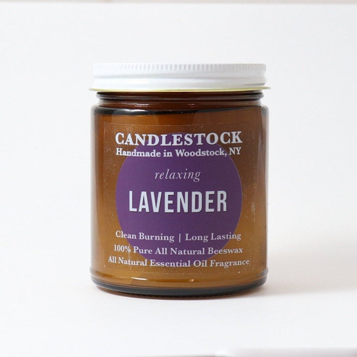All natural lavender scented jar candle. Small jar candle. Scented beeswax candle. - Candlestock.com