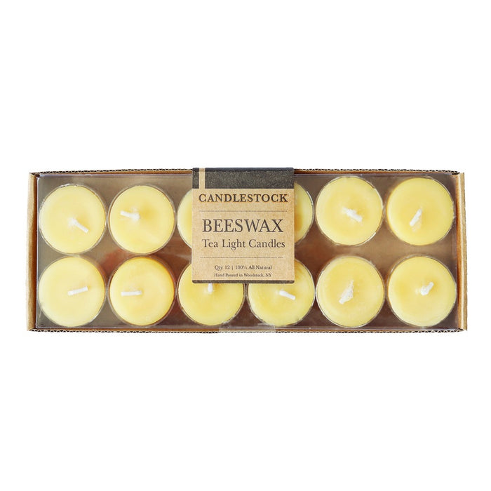 Beeswax tea light candles. Long lasting candles. - Candlestock.com