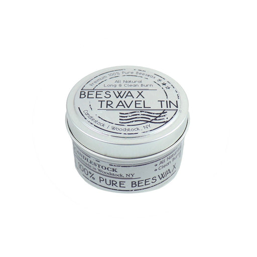 Travel with your beeswax with Candlestock's hand poured all natural beeswax tin candle. This 6 ounce 100% pure beeswax candle is perfect for the beeswax lover on the go. - Candlestock.com