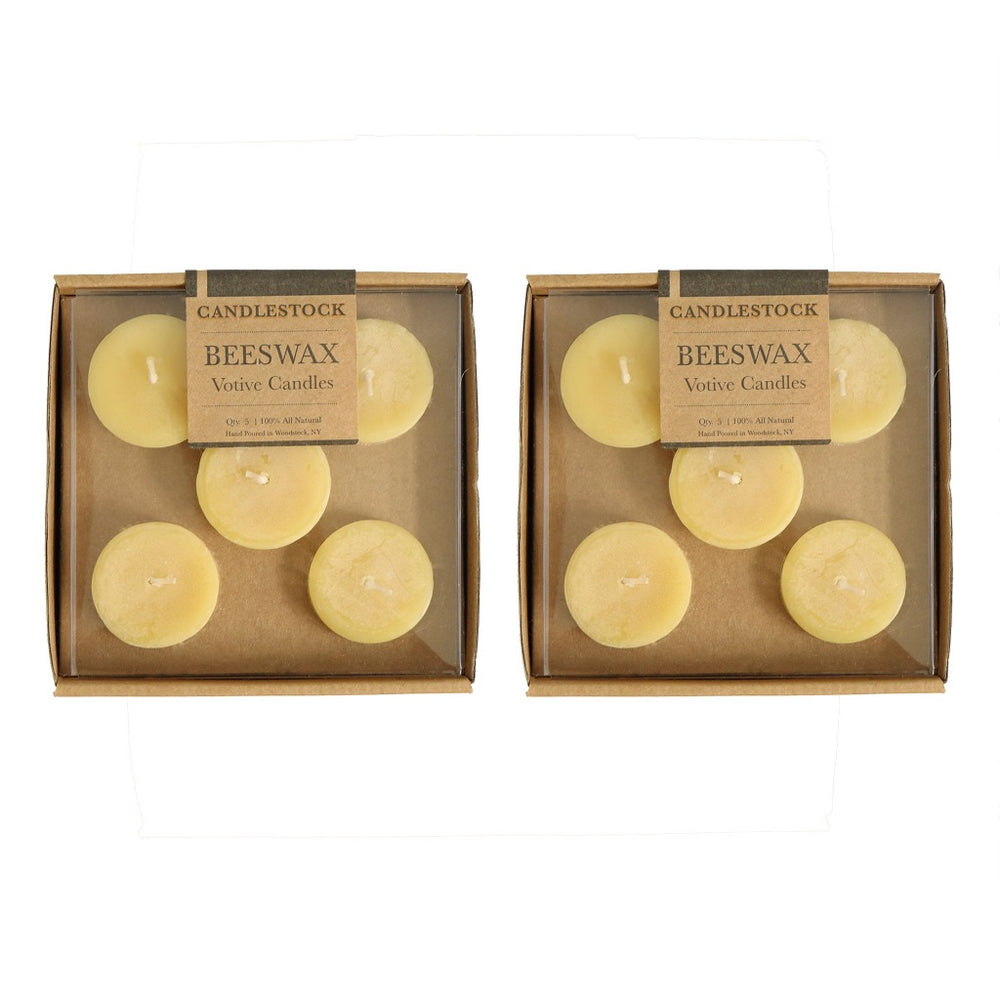All natural pure beeswax votive candle 10 pack. - Candlestock.com