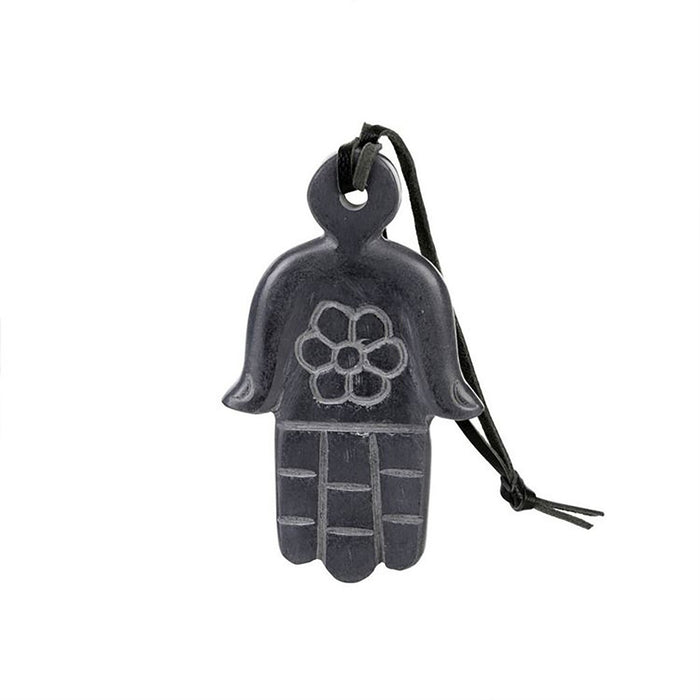Black Marble Hamsa Hand Ornament