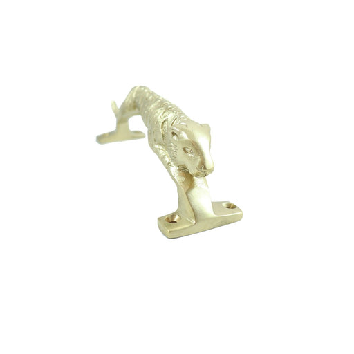 Brass cat decorative drawer handle. Modern home decor accents. - Candlestock.com