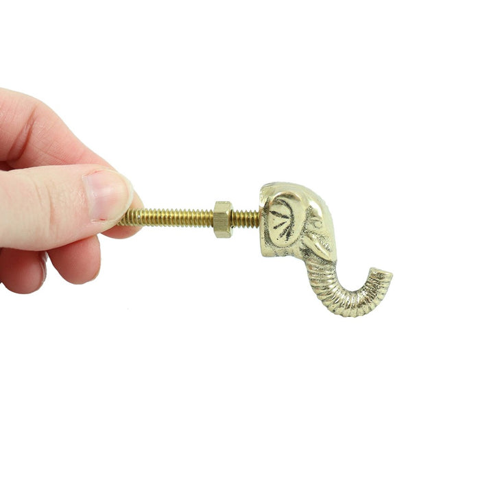 Decorative brass elephant drawer pull perfect for a dresser, kitchen drawers or cabinets. - Candlestock.com