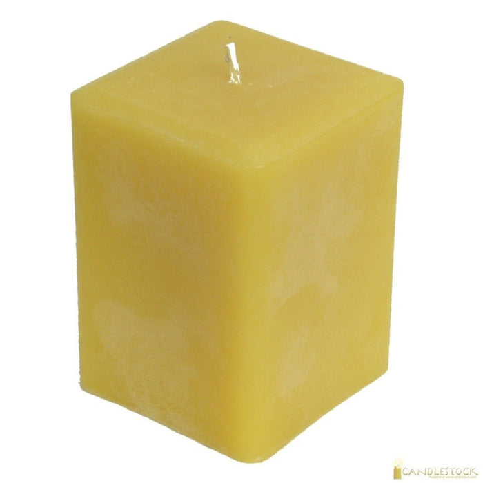 Beeswax Square Pillar Candle - Candlestock.com