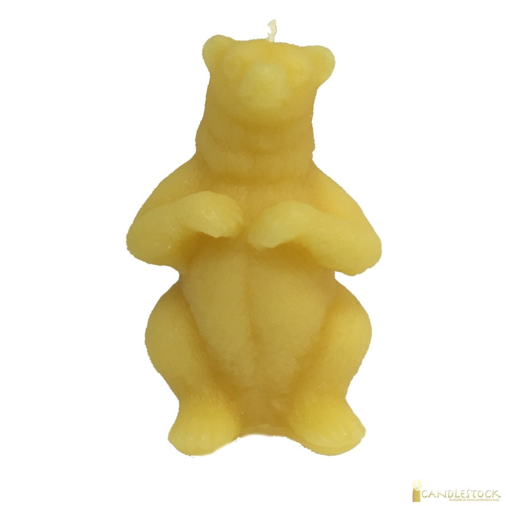 Candlestock Beeswax Standing Bear Candle