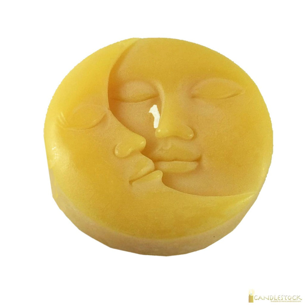 Beeswax Sun And Moon Disc Candle - Candlestock.com