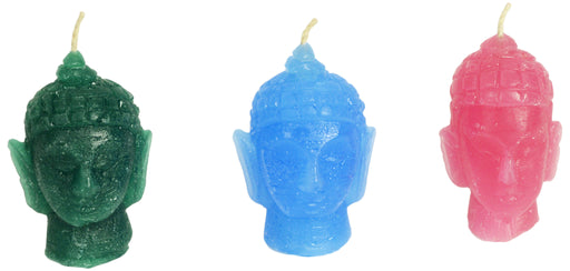 Colorful Buddha Head Candle - Candlestock.com