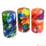 Candlestock Modern Art Pillar Candle In Multiple Sizes