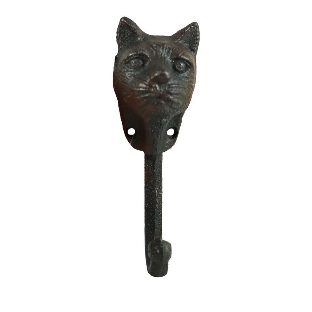 Cast Iron Cat Hook - Wall Decorations - Home Decor - Candlestock.com