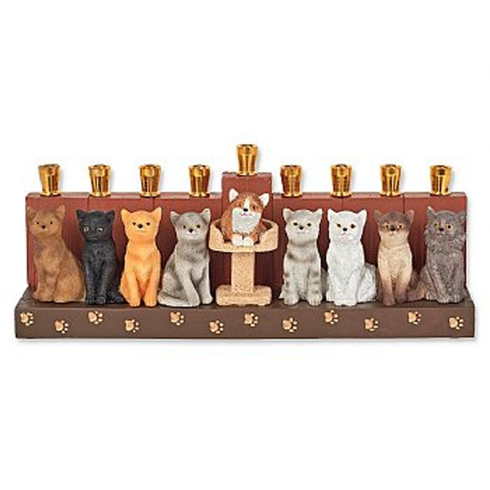 Cat menorah - Candlestock.com