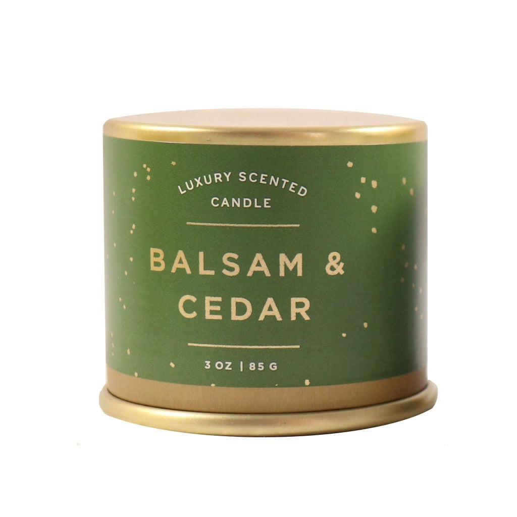 Balsam and Cedar Scented Soy Candle - Illume Scented Jar Candle - Candlestock.com