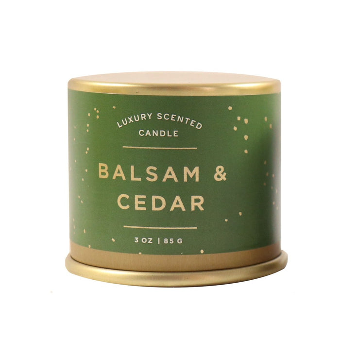 Balsam and Cedar Scented Soy Candle - Illume Scented Jar Candle. Winter Scented Candles. - Candlestock.com