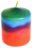Candlestock Multi Colored Pillar Candles In Multiple Sizes & Colors