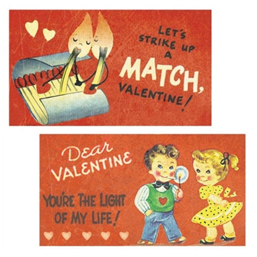 Valentine's Day Decorative Matches.  Vintage Decorative Match Boxes - Candlestock.com