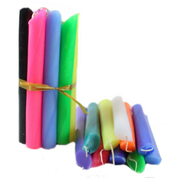 Assorted Colors Drip Candle 10 Pack - Candlestock.com