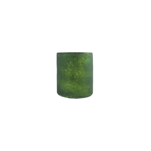 Green candle holder with metallic inside. - Candlestock.com